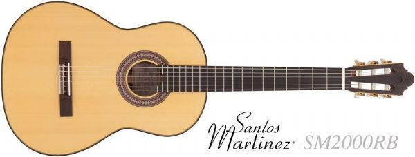 Santos Martinez classical guitar SM2000RB Raymond Burley Signature Model - New